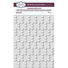 "Creative Expressions 3D Embossing Folder 5.75""X7.5"" - Diamond Droplets"
