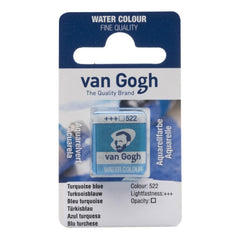 Talens - Van Gogh Watercolour half pan - TURQ.BLUE 522