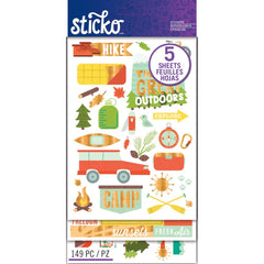 Sticko Stickers - Outdoor Vacation Flip Pack