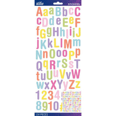 Sticko Alphabet Stickers - Pastel Rounded Glitter