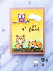 Gerda Steiner - Foxes - 4inch x 6inch Clear Stamp Set
