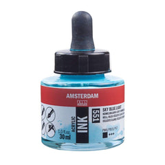 551 - Talens Amsterdam Acrylic Ink 30ml - Sky Blue Light