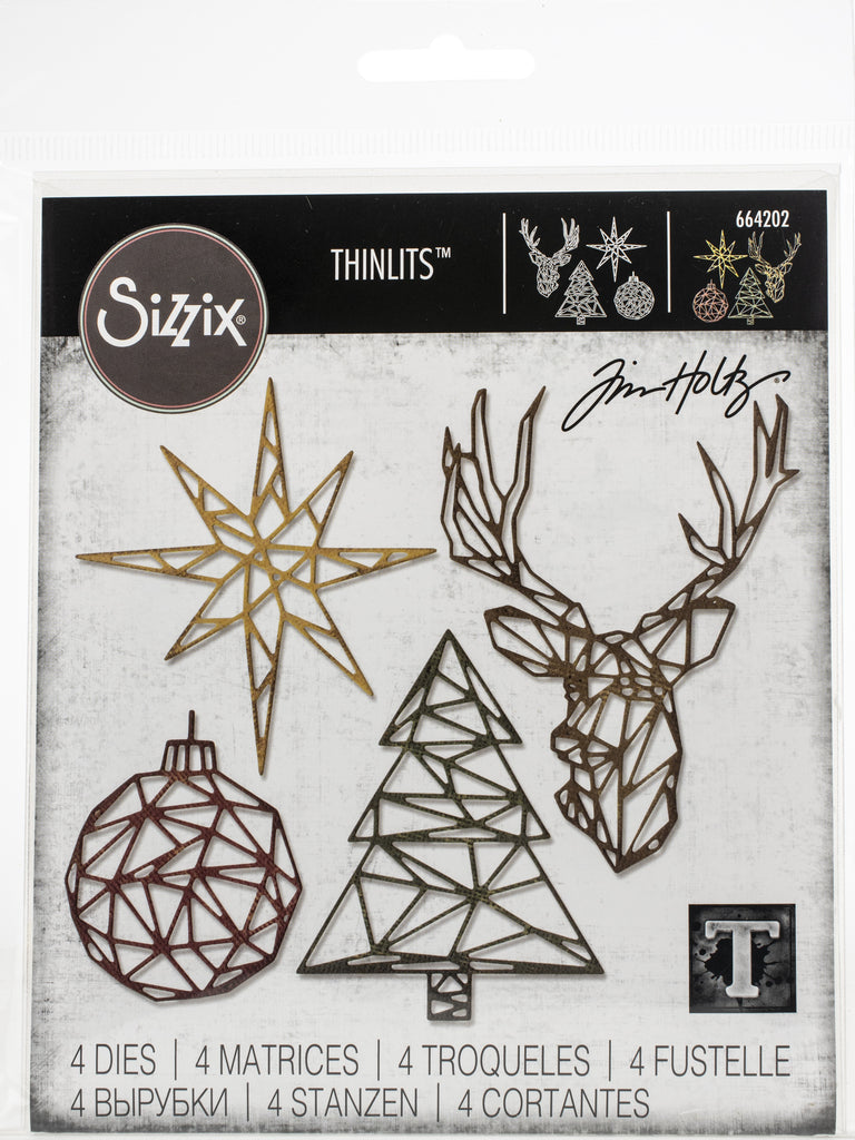 Sizzix - Thinlits Dies By Tim Holtz - Geo Christmas