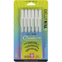 Gelly Roll Medium Point Pens 6 pack - White 0.8mm