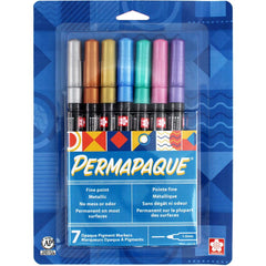 Permapaque Paint Marker Fine Point 1mm 7 pack - Assorted