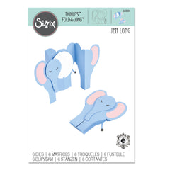 Sizzix - Thinlits Dies By Jen Long - Fold-A-Long Card, Elephant