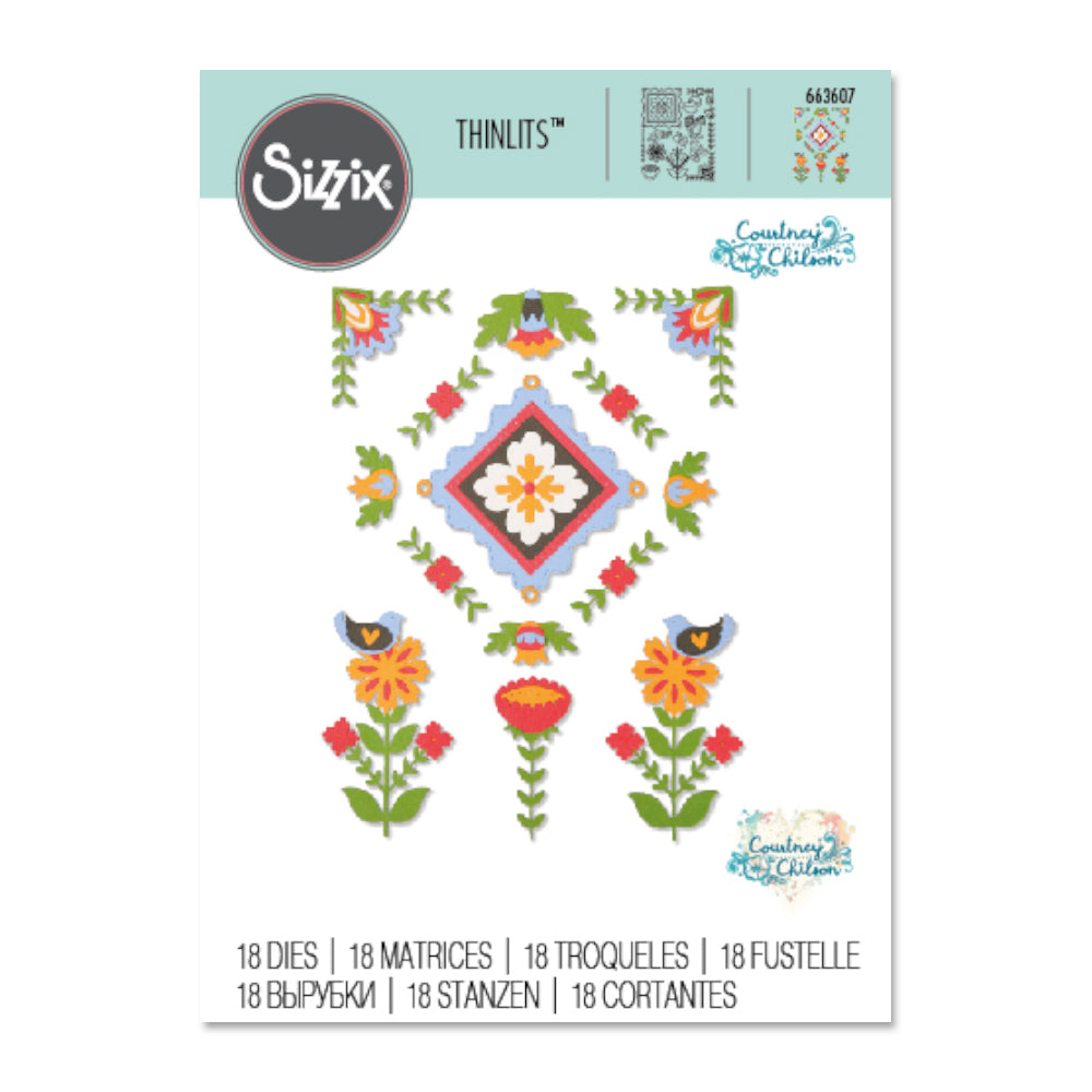Sizzix - Thinlits Dies By Courtney Chilson - Folk Art Elements