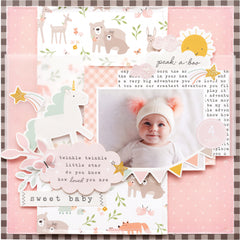 Pebbles - Single-Sided 12inx12in Paper Pad 36/pkg - Peek-A-Boo You Girl