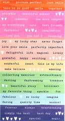 Dear Lizzy - She's Magic Cardstock Stickers - Confetti with Iridescent Foil Accents