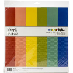 Simple Stories Colour Vibe Double-Sided Paper Pack 6 pack - Bold
