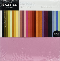 Bazzil Premium Cardstock Value Pack 12in X 12in 100 pack - Assorted Colours