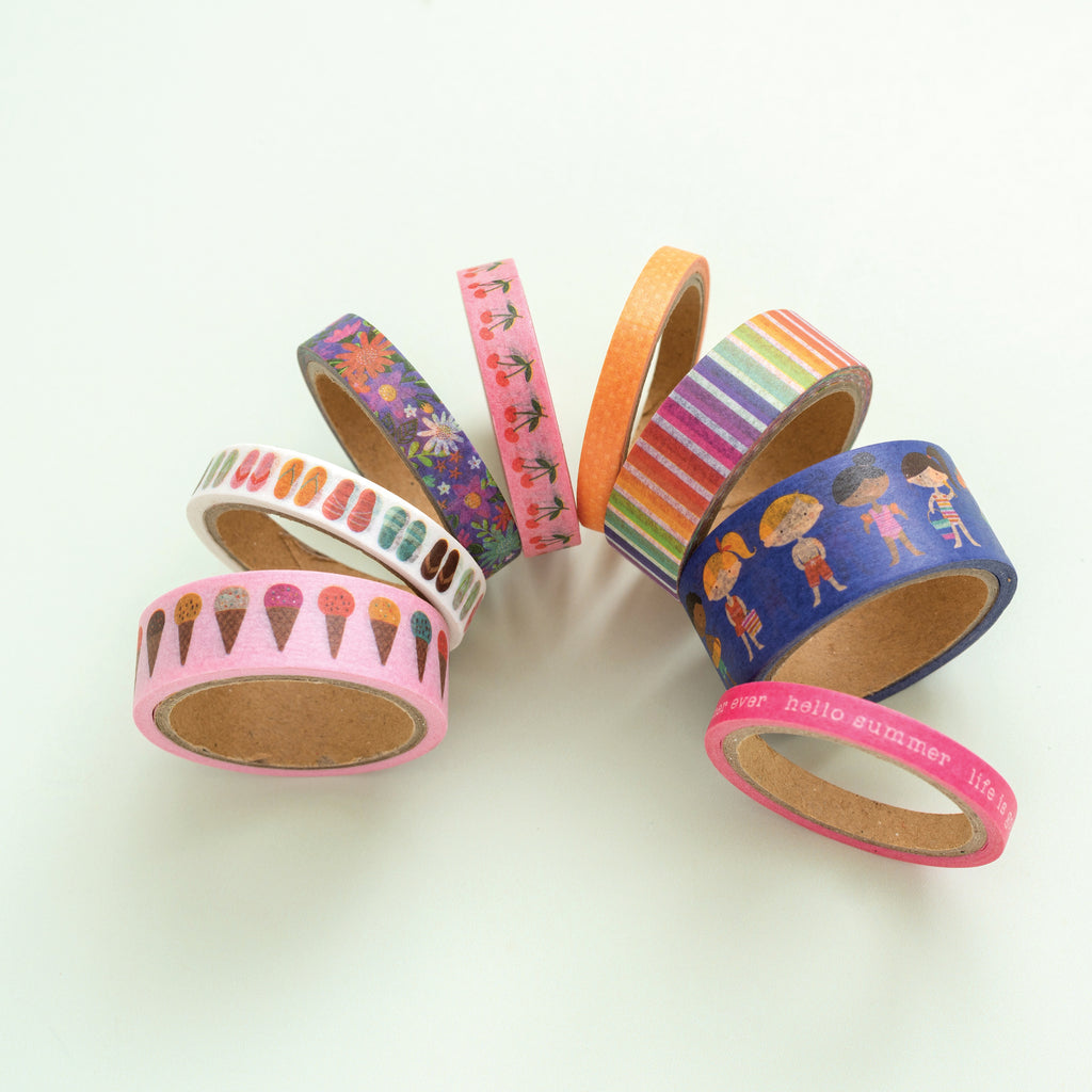 Pebbles Sun and Fun - Washi Tape 8 pack