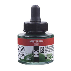 622 - Talens Amsterdam Acrylic Ink 30ml - Olive Green Deep