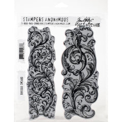 "Tim Holtz Cling Stamps 7""X8.5"" - Baroque"