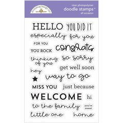 Doodlebug Clear Doodle Stamps All Occasions