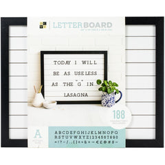DCWV Letterboard 20in x 16in With 1in Letters - Shiplap
