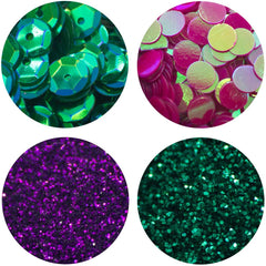 Nuvo Pure Sheen Glitter, Sequins & Confetti 4 pack  - Tropical Paradise