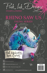 Pink Ink Designs Clear Stamp - Rhino Saw Us A5