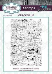 Creative Expressions Andy Skinner Stamp - Cracked Up 4.5 in x 3 in
