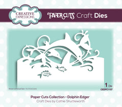 Creative Expressions Paper Cuts Edger Craft Die - Dolphin