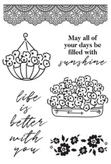 Kaisercraft Clear Stamp 6in x 4in - Flower Shoppe