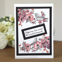 Creative Expressions Designer Boutique A5 Clear Stamp - Nightingale's Song