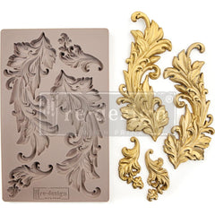 Re-Design Mold 5 inchX8 inch - Baroque Swirls