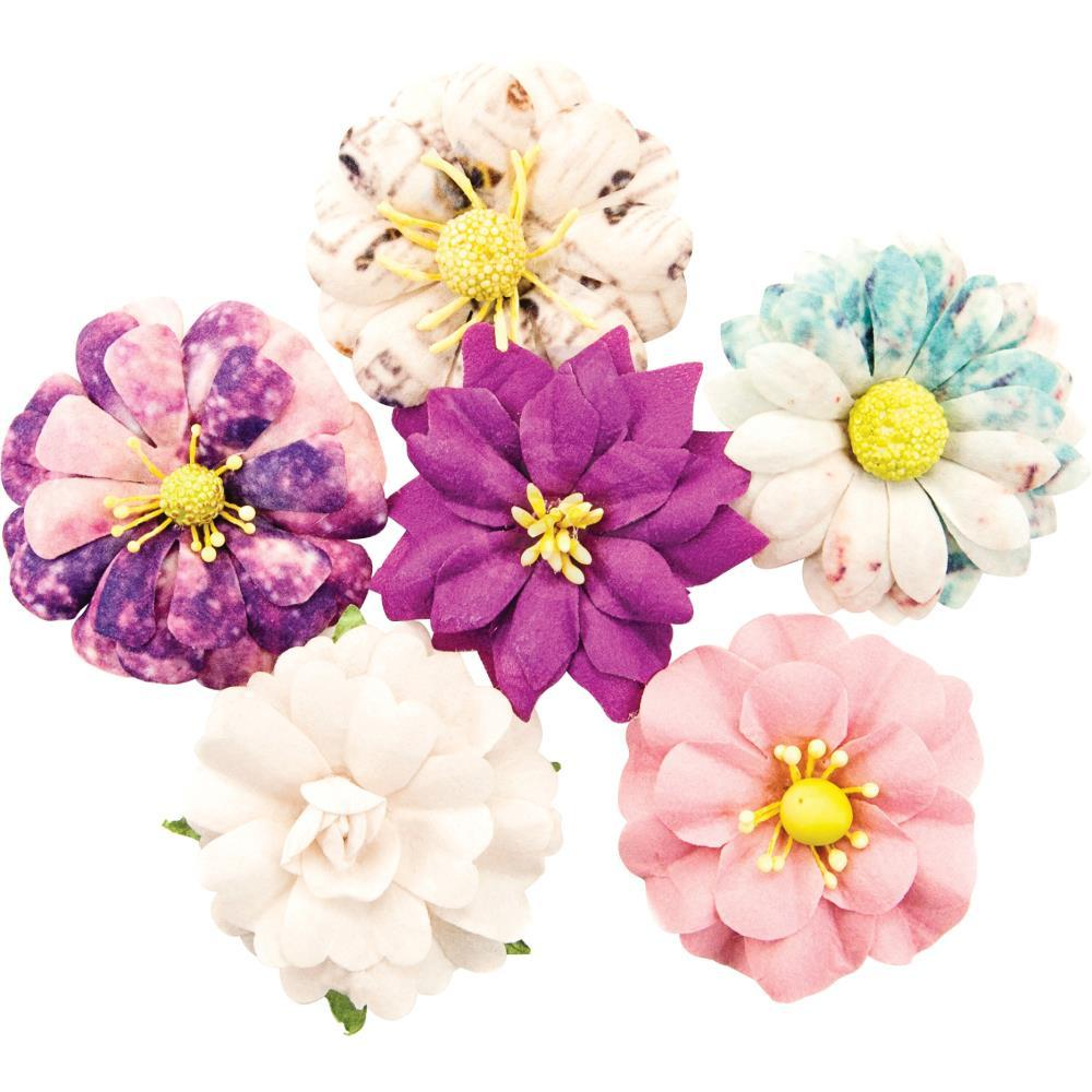 Prima Marketing Moon Child Paper Flowers 6 pack Galactic Energy