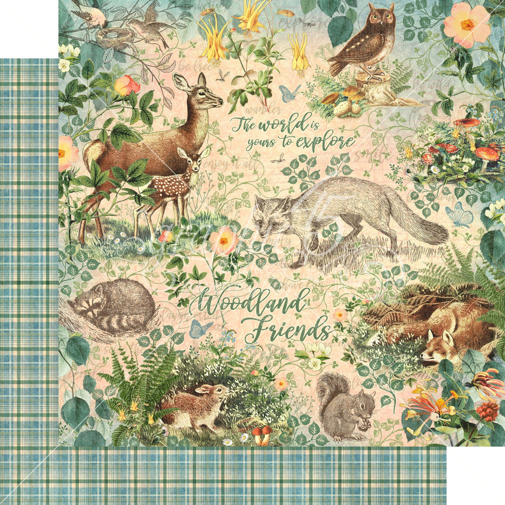 "Graphic 45 Woodland Friends Double-Sided Cardstock 12""X12"" - Woodland Friends"