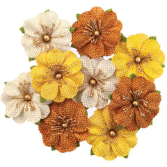 Prima Marketing - Mulberry Paper Flowers - Haystack/Autumn Sunset