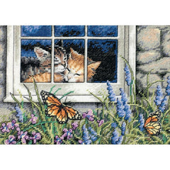 Dimensions Gold Petite Counted Cross Stitch Kit 7inch X5inch Feline Love (18 Count)