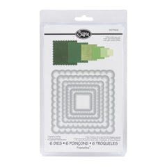 Sizzix Framelits Die Set 6 pack - Scallop Squares