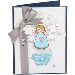Sizzix - Framelits Die & Stamp Set By Katelyn Lizardi - Angel, Glory In The Highest