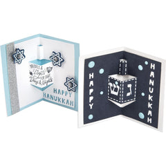 Sizzix - Framelits Die & Stamp Set By Katelyn Lizardi - Dreidel Pop-Up Card