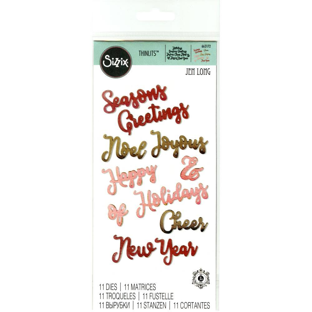 Sizzix - Thinlits Dies By Jen Long - Christmas Phrases #2