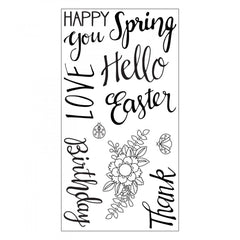 Sizzix Clear Stamps - Spring Phrases