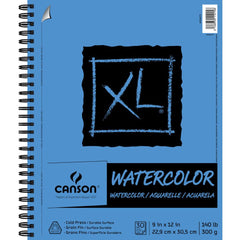 Canson XL Watercolour Pad 9 inch X12 inch 30 Sheets