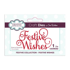 Creative Expressions Festive Craft Dies By Sue Wilson - Mini Expressions, Festive Wishes