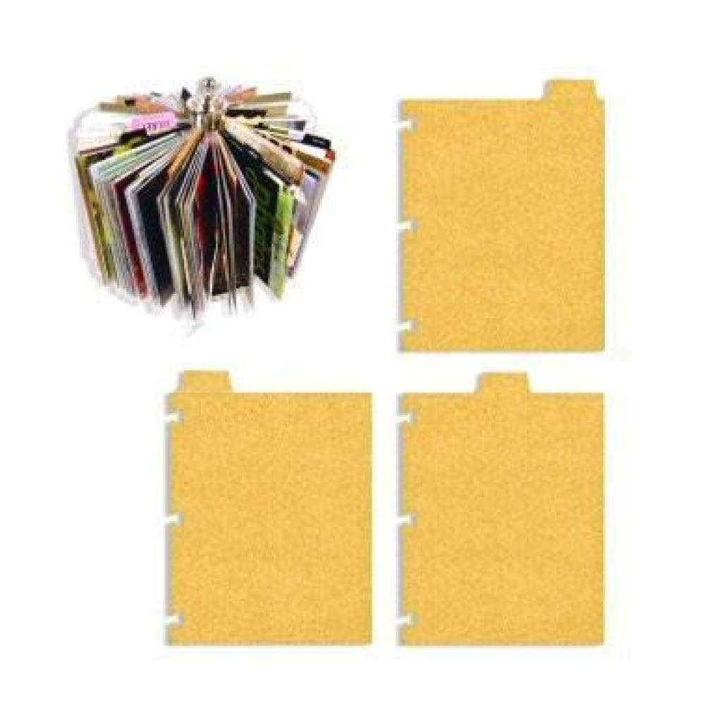 7 Gypsies - Photo Carousel Cardstock Refill Pk - Index Tabs - Chipboard 3/Pk
