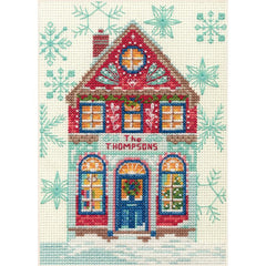 Dimensions Counted Cross Stitch Kit 5in x 7in - Holiday Home (14 Count)