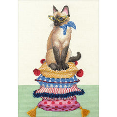 Dimensions Counted Cross Stitch Kit 10inch X14inch Cat Lady (14 Count)
