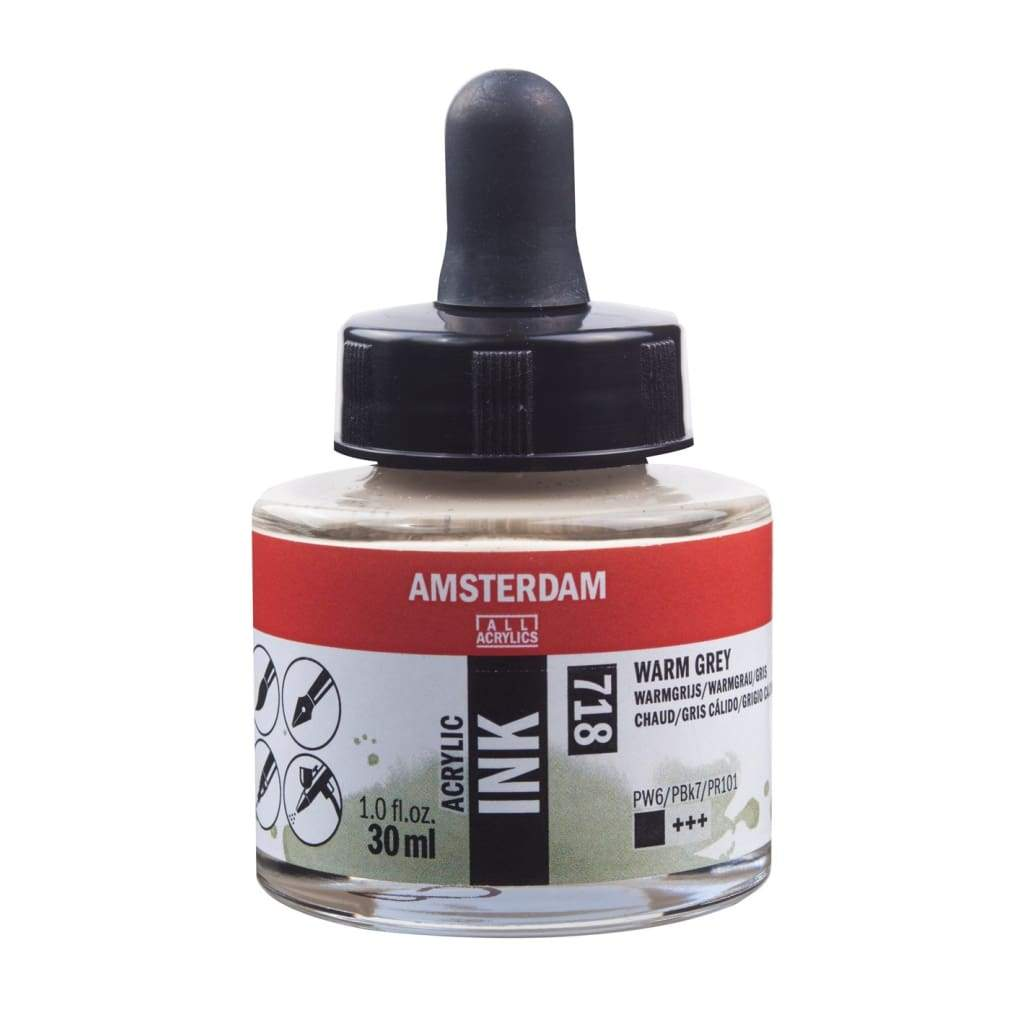 718 - Talens Amsterdam Acrylic Ink 30ml - Warm Grey