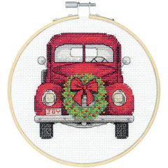 Dimensions Counted Cross Stitch Kit with Hoop 6in - Truck (14 Count)