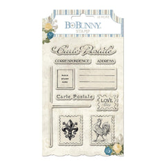 BoBunny - Boulevard Collection - Clear Acrylic Stamps
