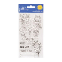 Pebbles Sun and Fun - Clear Stamps