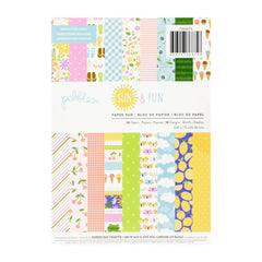 Pebbles Single-Sided Paper Pad 6in x 8in 36 pack  - Sun and Fun