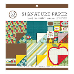 Colorbok - Signature Double-Sided Paper Pad 50 pack - Family