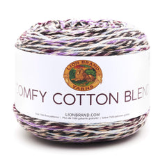 Lion Brand - Comfy Cotton Blend Yarn - Blueberry Muffin - 7oz/200g