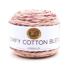 Lion Brand - Comfy Cotton Blend Yarn - Lovie Dovie - 7oz/200g