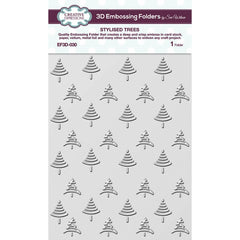 "Creative Expressions 3D Embossing Folder 5.75""X7.5"" - Stylised Trees"